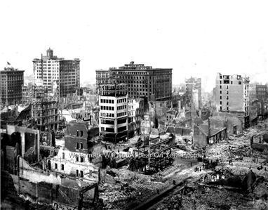 SAN FRANCISCO EARTHQUAKE 1906 PHOTO SAN ANDREAS FAULT ...
