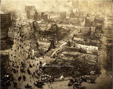 1906 PHOTO SAN FRANCISCO EARTHQUAKE SAN ANDREAS FAULT ...