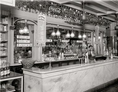 Old Time Peoples Drug Store Soda Fountain Lunch Counter