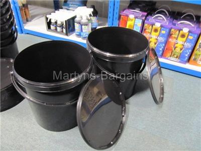 Paint etc Mixing solutions 4  x 20 litre Mixing Buckets with Lids Fish Bait