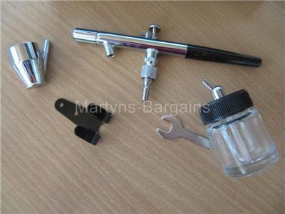 HS28P  Air Brush Gun and Extras Model Air Brush Accessory Kit