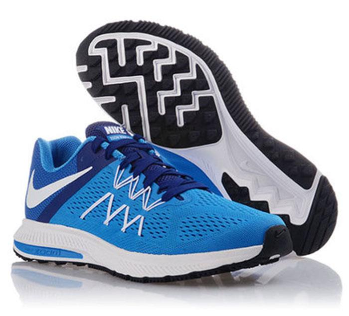 info for 438d0 044df Nike Zoom Winflo 3 Blue Running Shoes