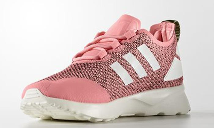 on sale c02bd 2ae98 womens adidas zx flux pink