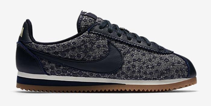 1708 Nike Classic Cortez Indigo Women's Sneakers Running Shoes 921667-400