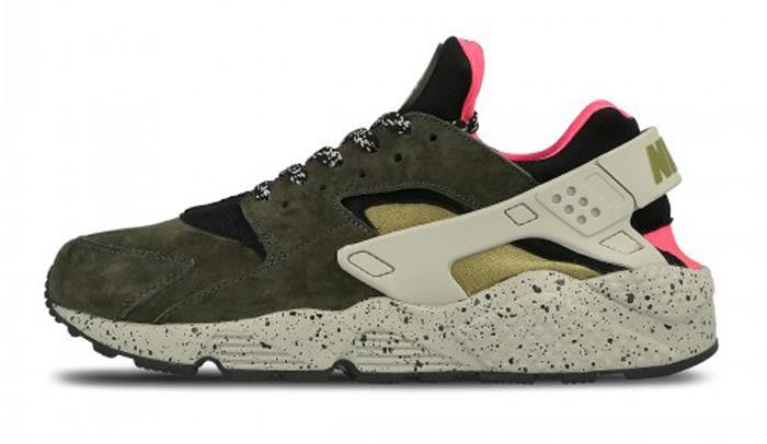 1711 Nike Air Huarache Run Run Run Premium Hommes Sneakers Sports Chaussures 704830-010 288f23