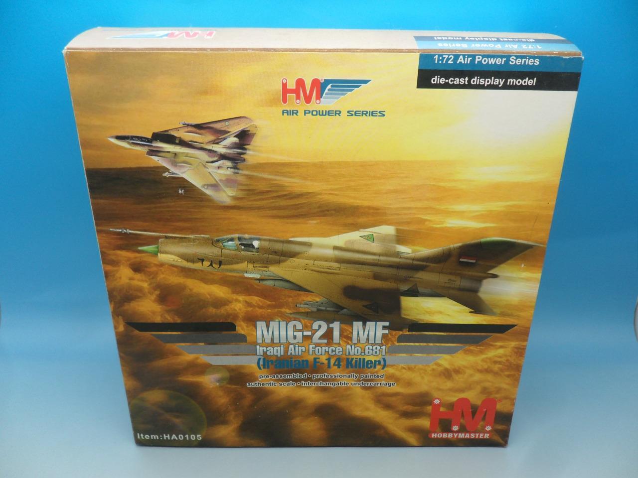 Hobby Master MIG-21 MF fuerza aérea iraquí no 681 iraníes asesino de F-14 HA0105 1/72