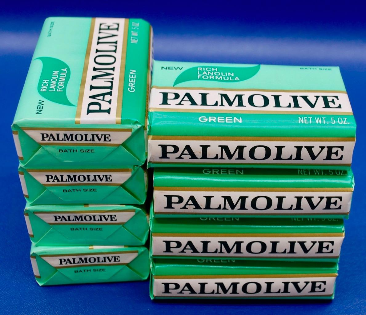 Lot Of 8 1970s Palmolive Green Bath Soap Bars Nos
