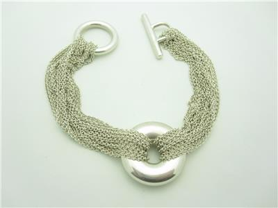 Tiffany Amp Co Sterling Silver Multi Strand Circle Mesh