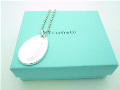 Tiffany Amp Co Sterling Silver Large Thumb Print Pendant