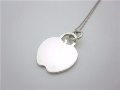 Tiffany Amp Co Sterling Silver Apple Pendant Charm Necklace
