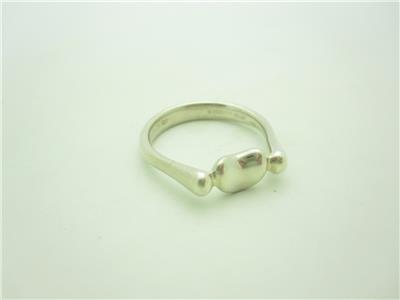 3faf668718764 Tiffany & Co. Sterling Silver Elsa Peretti Bean Ring Size 6 1/2   eBay