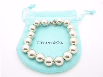 Tiffany Amp Co Sterling Silver Bead Ball Bracelet 7 5
