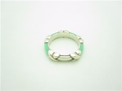 Tiffany Amp Co Sterling Silver Blue Enamel Signature X Ring