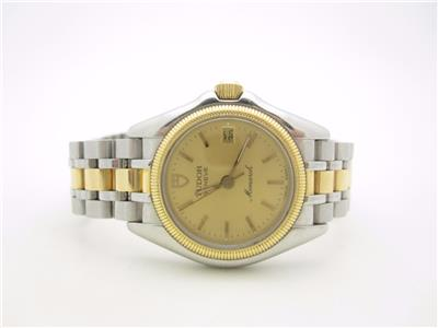 Tudor Ladies 18k Gold Plated Stainless Steel Monarch Watch