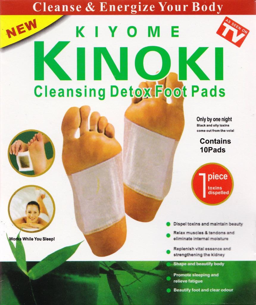10 Cleansing Detox Foot Pads Patches Kinoki As Seen On Tv Kiyome Ebay