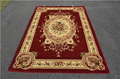 Burgundy Green Beige Black Brown Victorian Area Rug Carpet