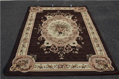 Burgundy Green Beige Black Brown Victorian Area Rug Carpet