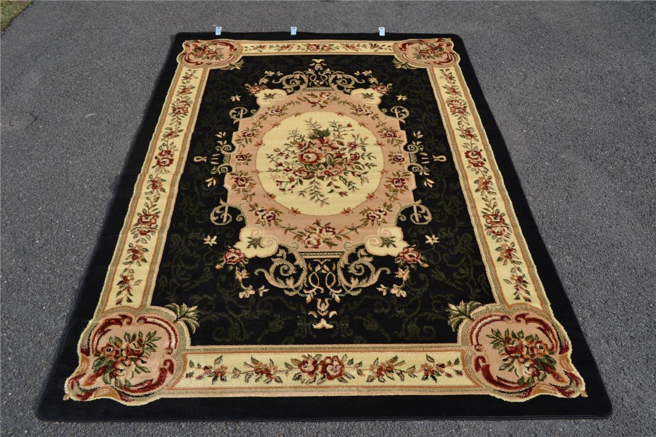 Burgundy Green Beige Black Brown Victorian Area Rug Carpet Floral Large New 662 Ebay