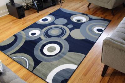 175 Navy Blue White Pea Green 5x7 8x10 Area Rugs Carpet