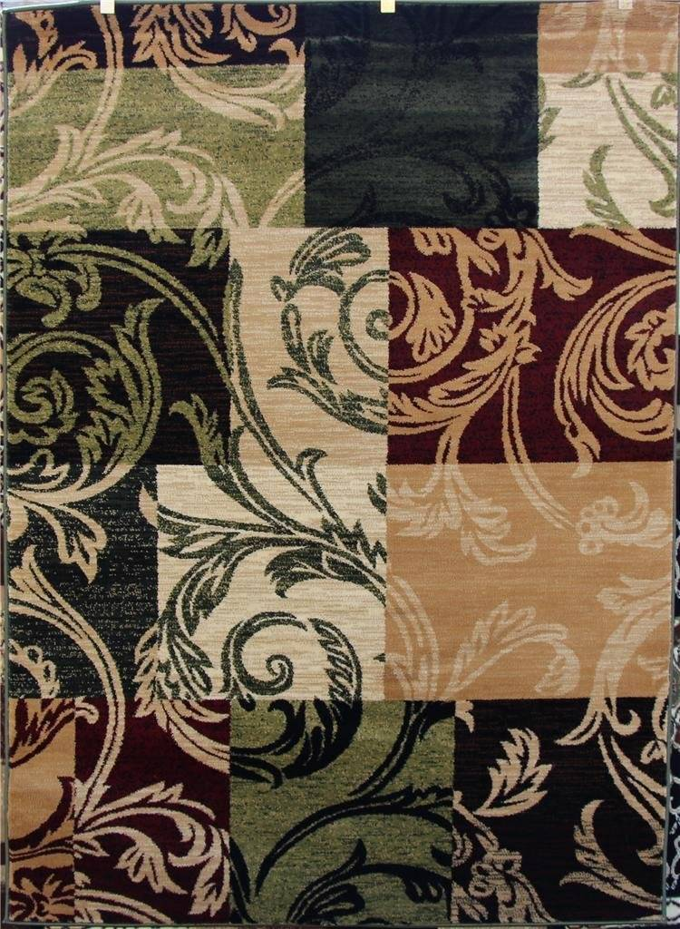 1798 Green Burgundy Beige Black 5x7 8x10 Area Rugs Carpet