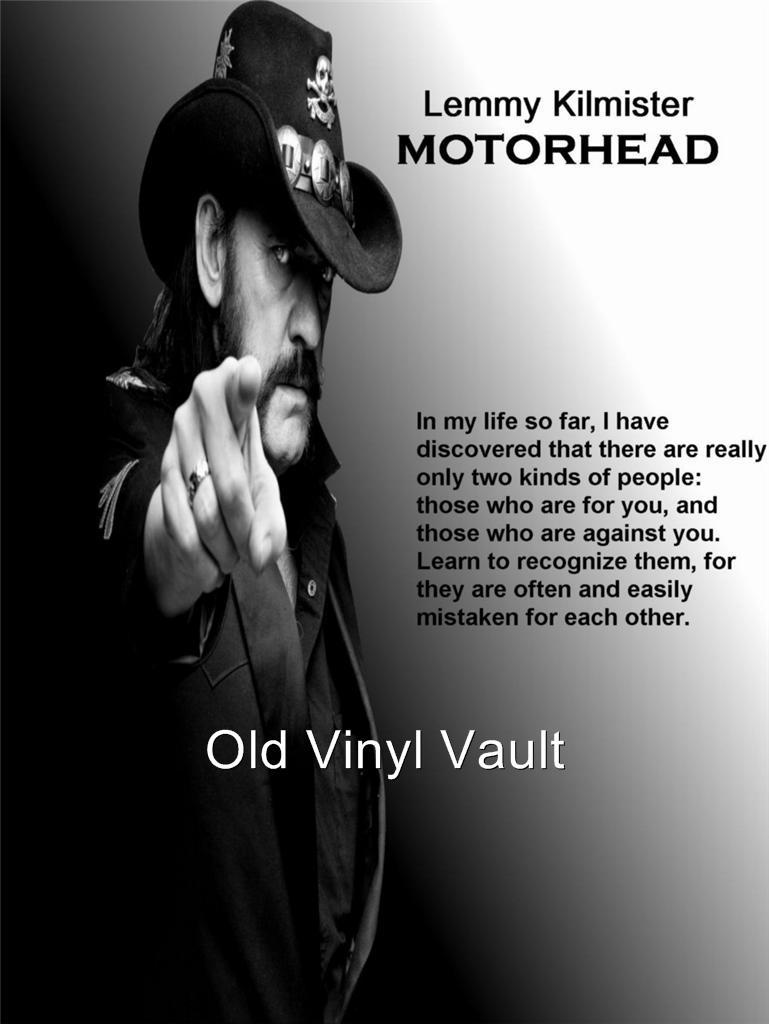 Motorhead-Lemmy Kilmister Quote - A3 size Poster Print : eBay