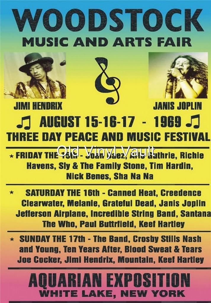 Woodstock Festival 1969 Vintage Concert Poster Repro Ebay