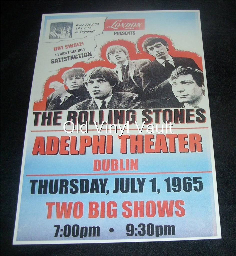 The Rolling Stones Repro Concert Poster Adelphi Theater