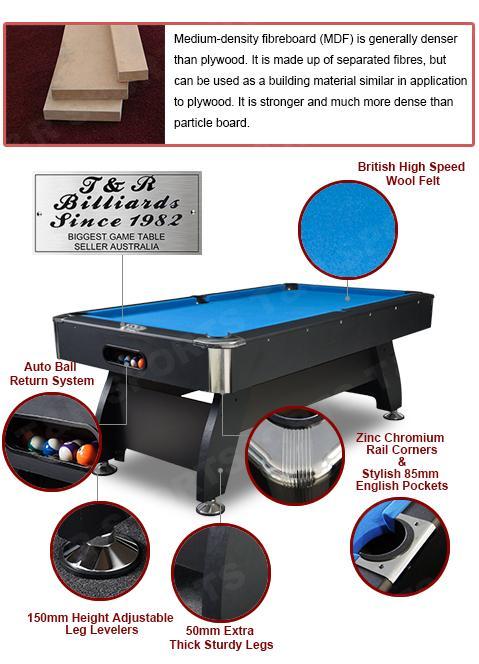 7ft Pub Size Pool Table Snooker Billiard Stan
