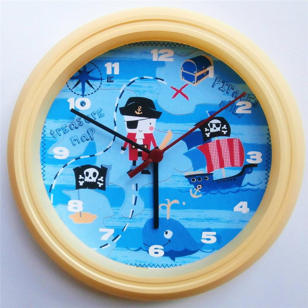 Brand New Kids Wall Clock Next Pirate Ship Free P Amp P Ebay