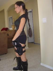 Lara Croft Tomb Raider Braid Hair Extention Costume On Popscreen