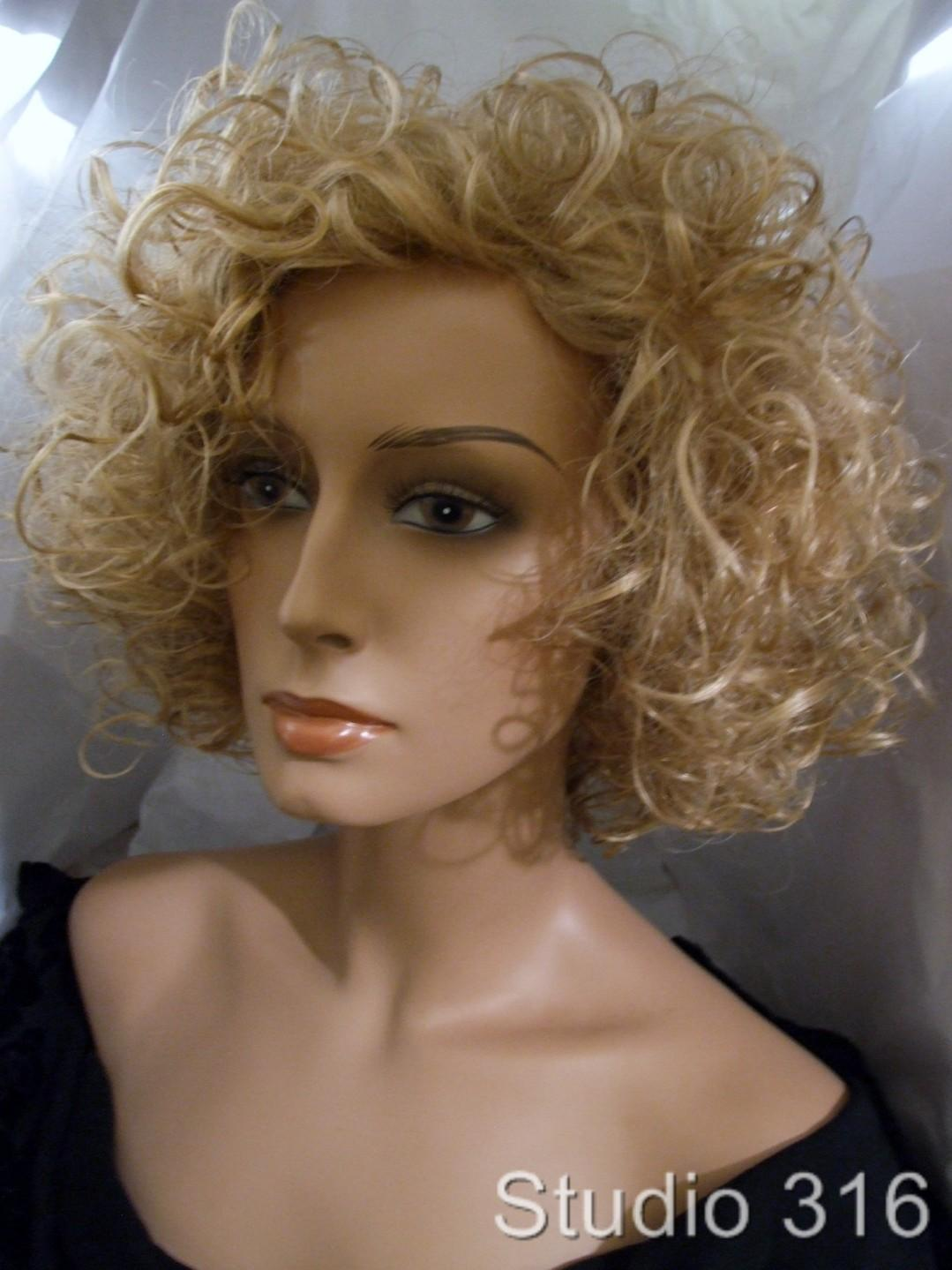 Chic Soft Curly Wig Medium Length Blonde Brown Red Black