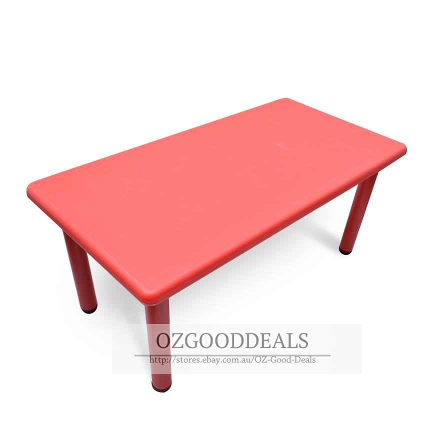 Large kids toddler children activity table and 8 chair for Oversized kids chair