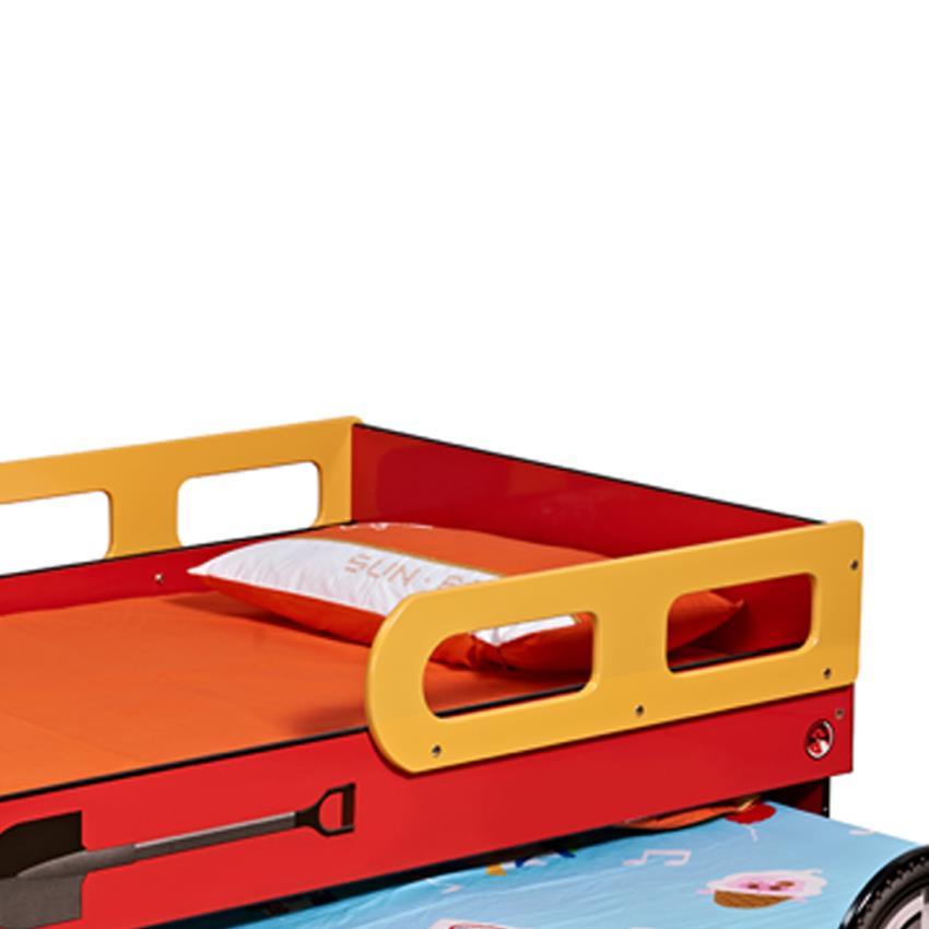New Kids Toddler Children Single Trundle Fire Engine Bed Bedding ...