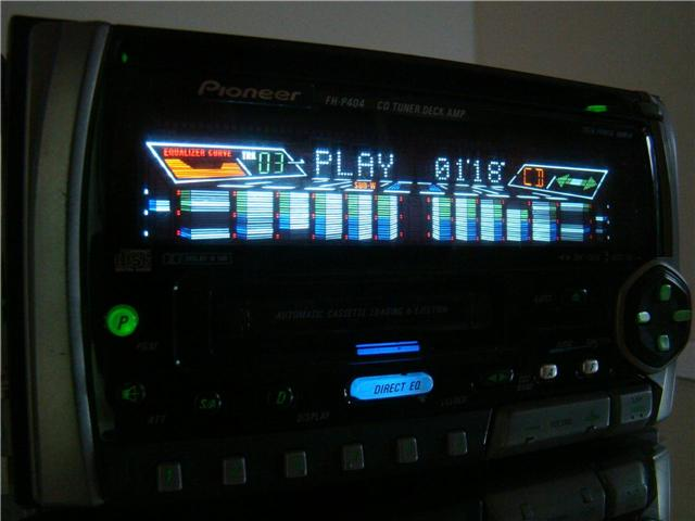 Pioneer 2 Din Car Cd Mp3 Cassette Spectrum Analyzer Stereo