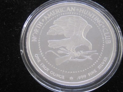 North American Hunting Club Proof 1 oz Silver Whitetail Deer