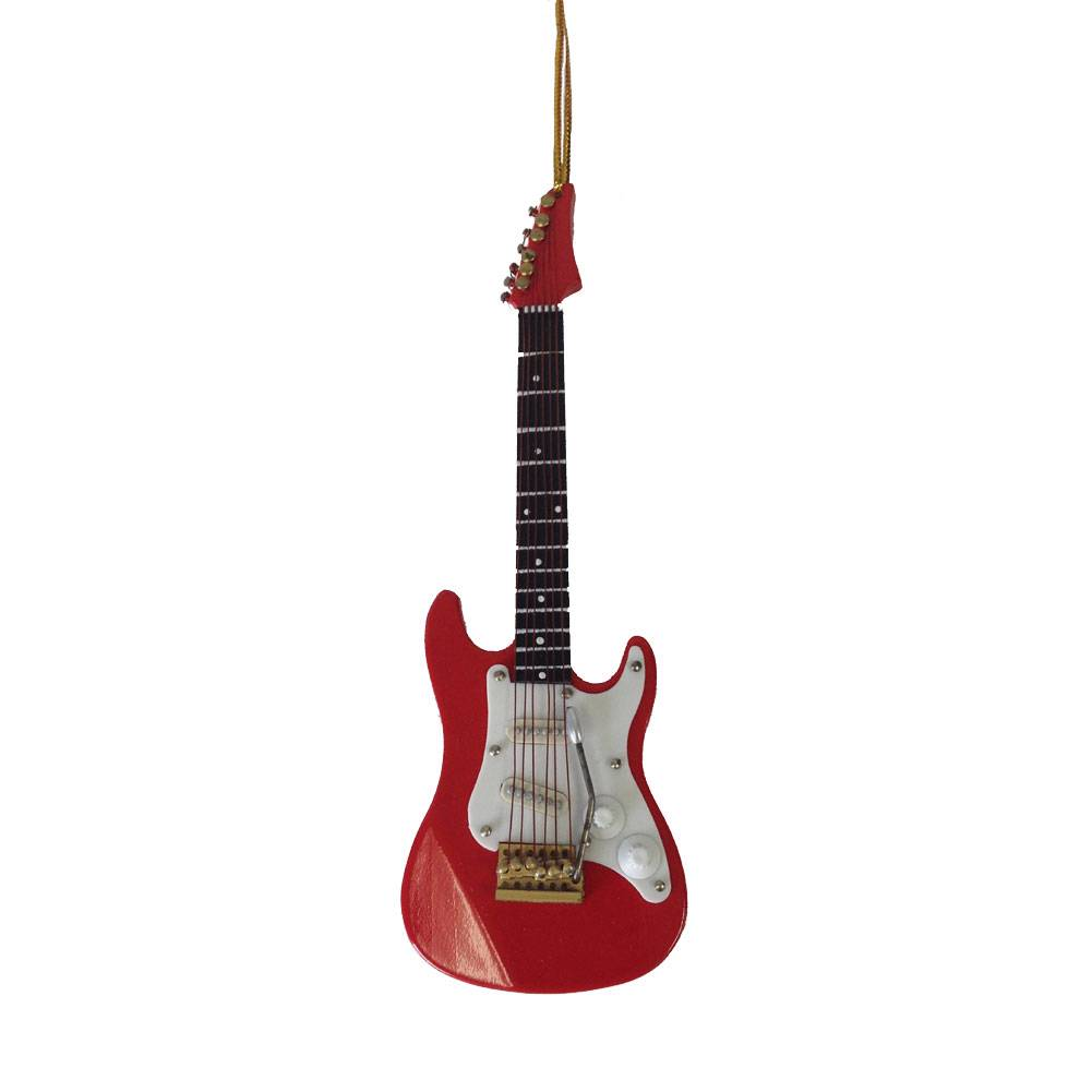 Red Electric Guitar Musical Stringed Instrument Christmas ...