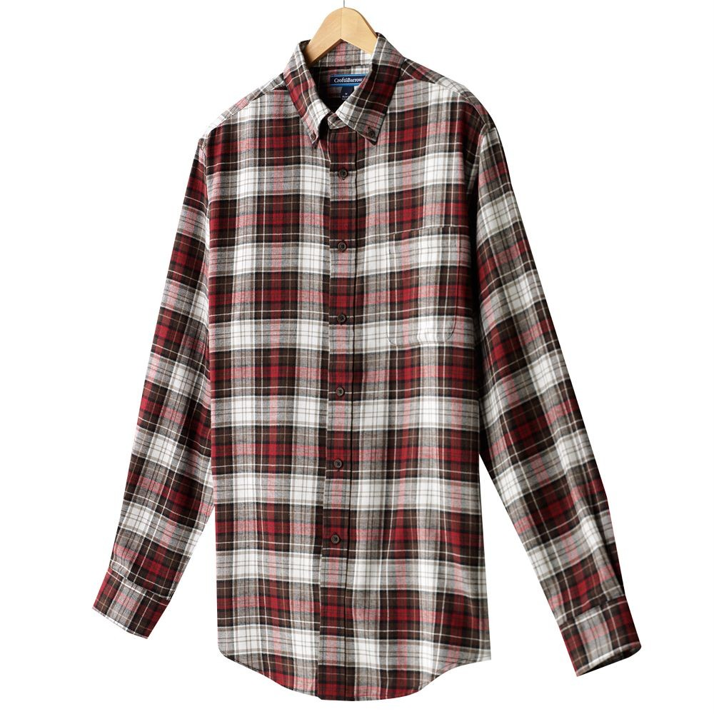 Croft Amp Barrow Mens Flannel Plaid Shirt Various Colors And