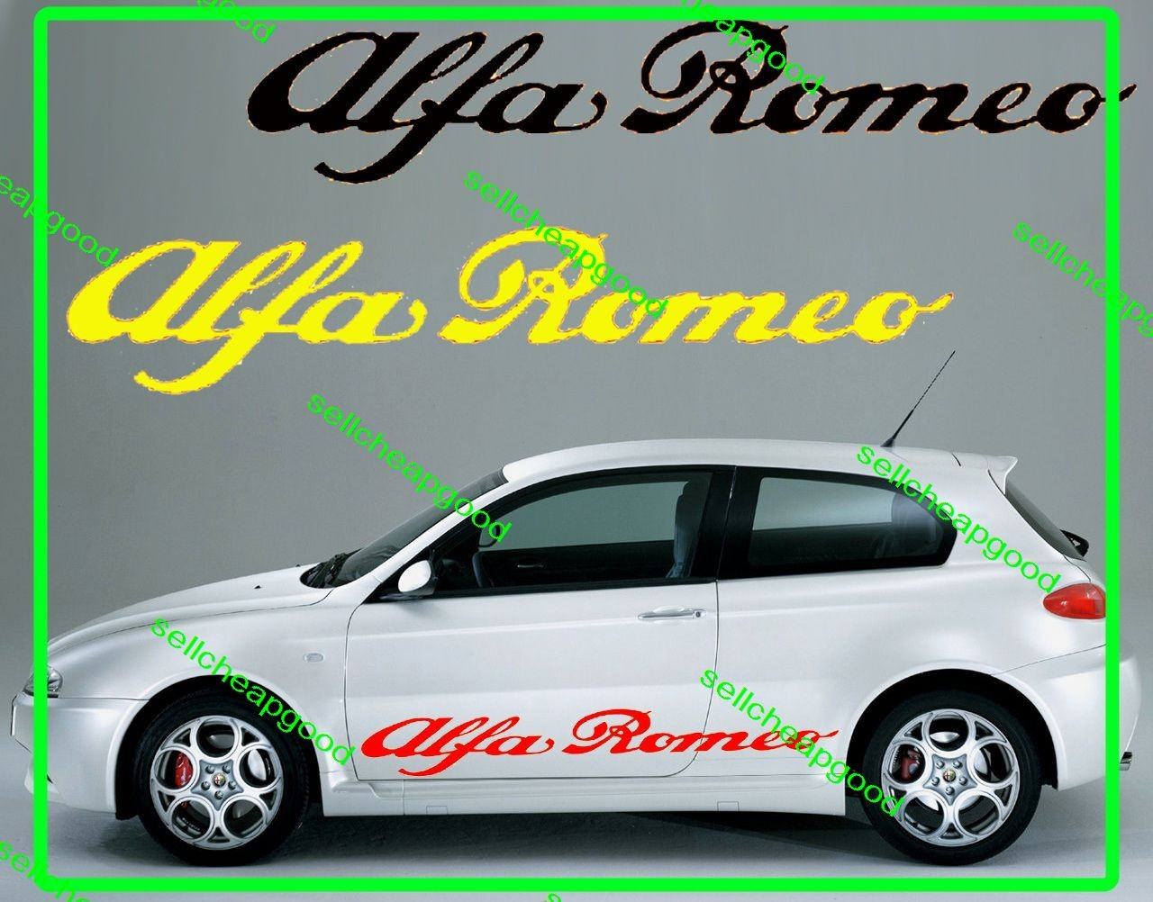 alfa romeo sides skirt decal sticker for giulietta spider 159 gt junior gtv6 156 ebay. Black Bedroom Furniture Sets. Home Design Ideas