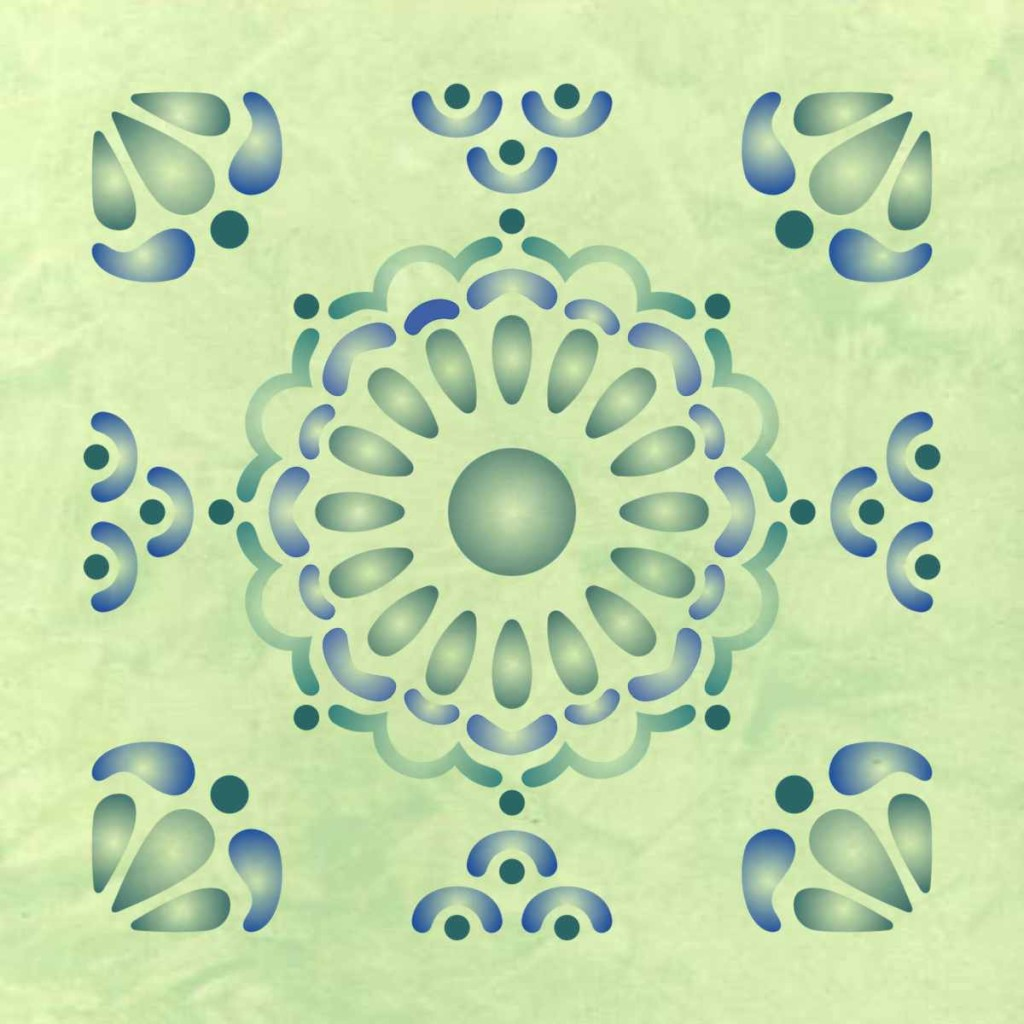 Mexican Tile Design Wall Pattern Stencil . Multiple Sizes ...