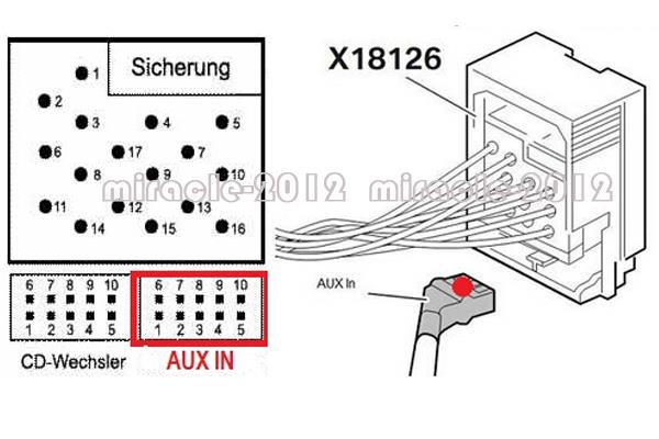 Bluetooth Module Aux Adapter Cable For Bmw E46 3 Series