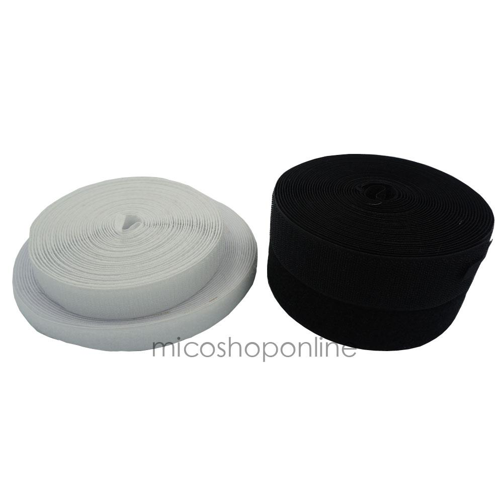 "10 Yards 1/"" Black Sew On Hook /& Loop Tape Fastener BSV25"