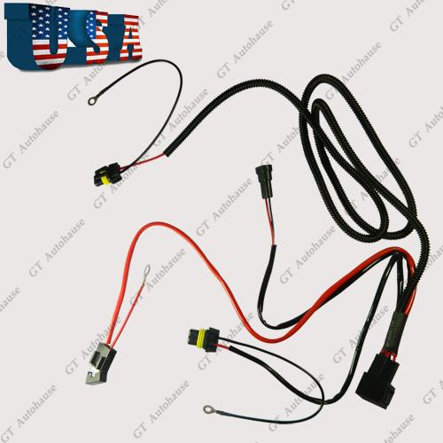 h11 880 relay wiring harness for hid conversion kit add. Black Bedroom Furniture Sets. Home Design Ideas