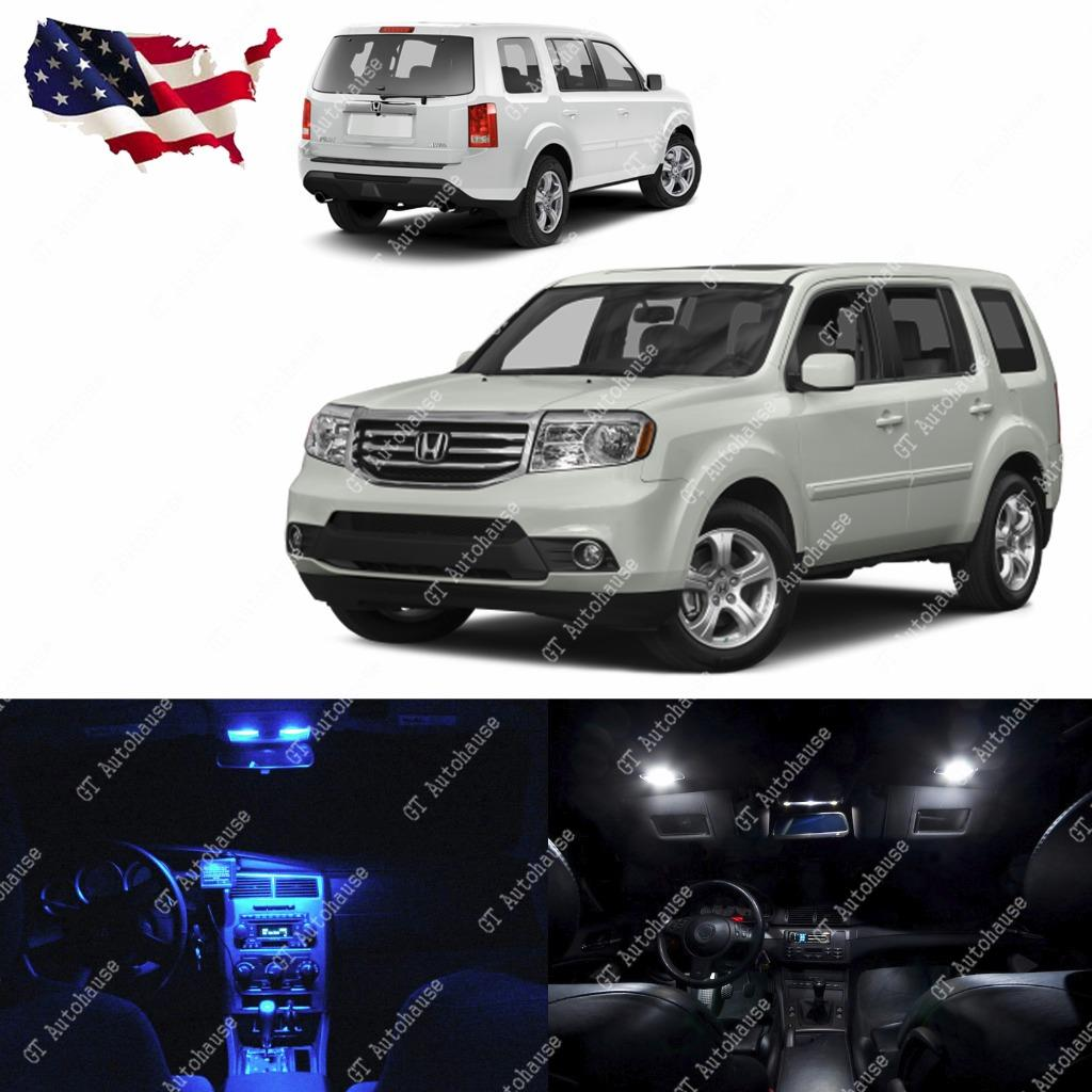 2009 2015 Honda Pilot 13x Interior White LED Lights Package Kit