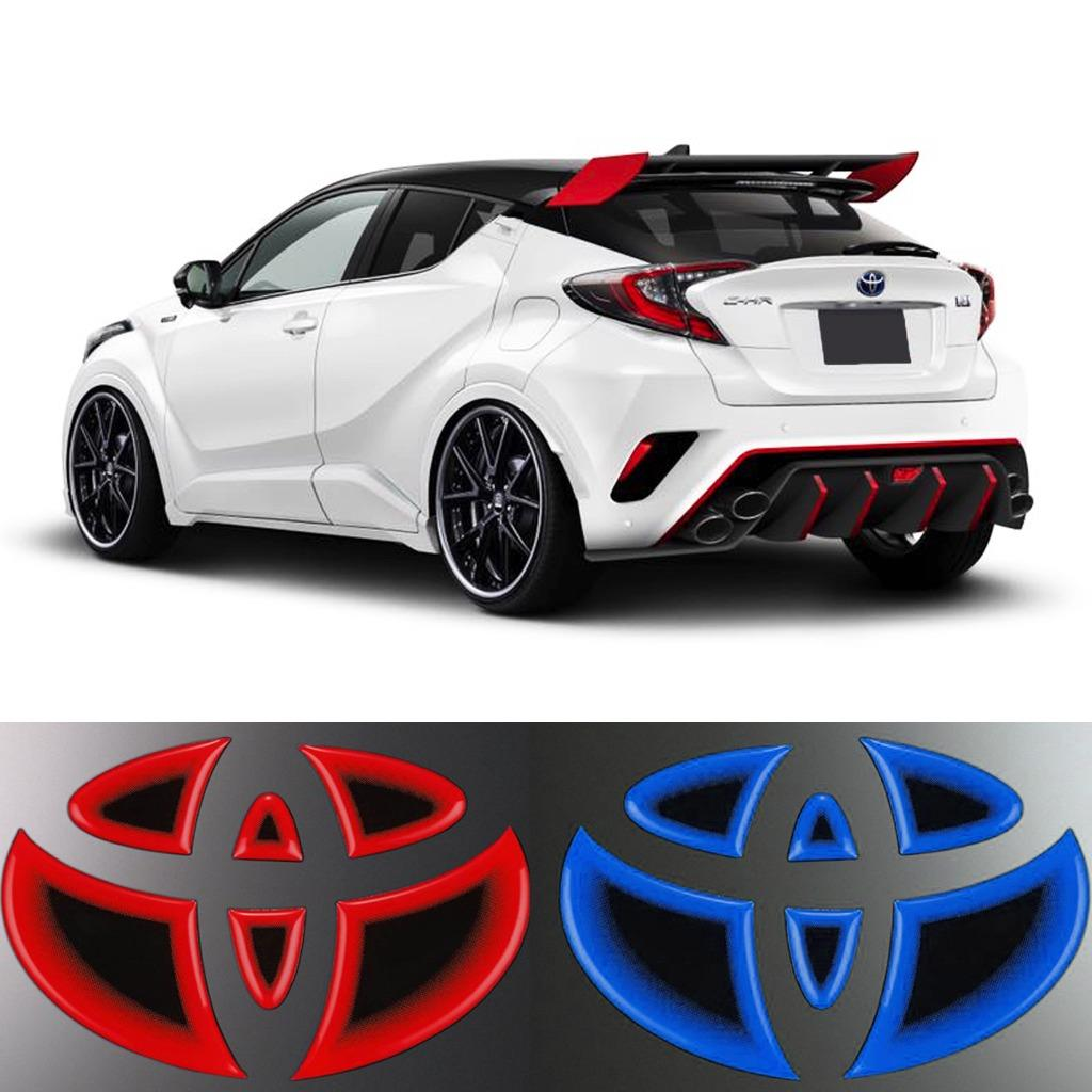 3d Illuminated Style Rear Logo Trim Jdm Sport Sticker For