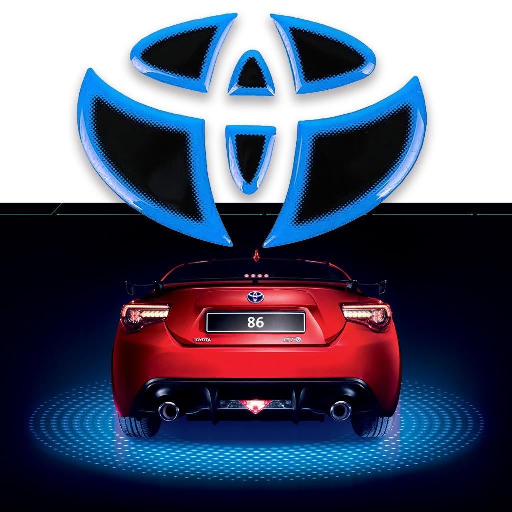 1x Jdm Cool Blue Rear Logo Emblem Trim Sticker Decal For