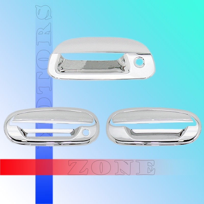 97 03 Ford F150 Chrome Door Handle Covers Trim Tailgate