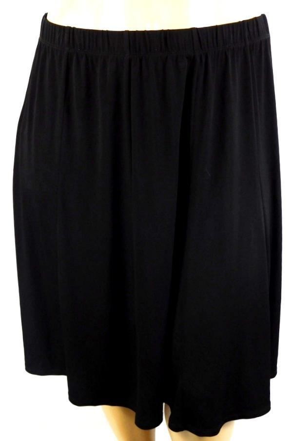 Details about C.j. banks by christopher & banks black elastic waist plus  size paneled skirt 1X