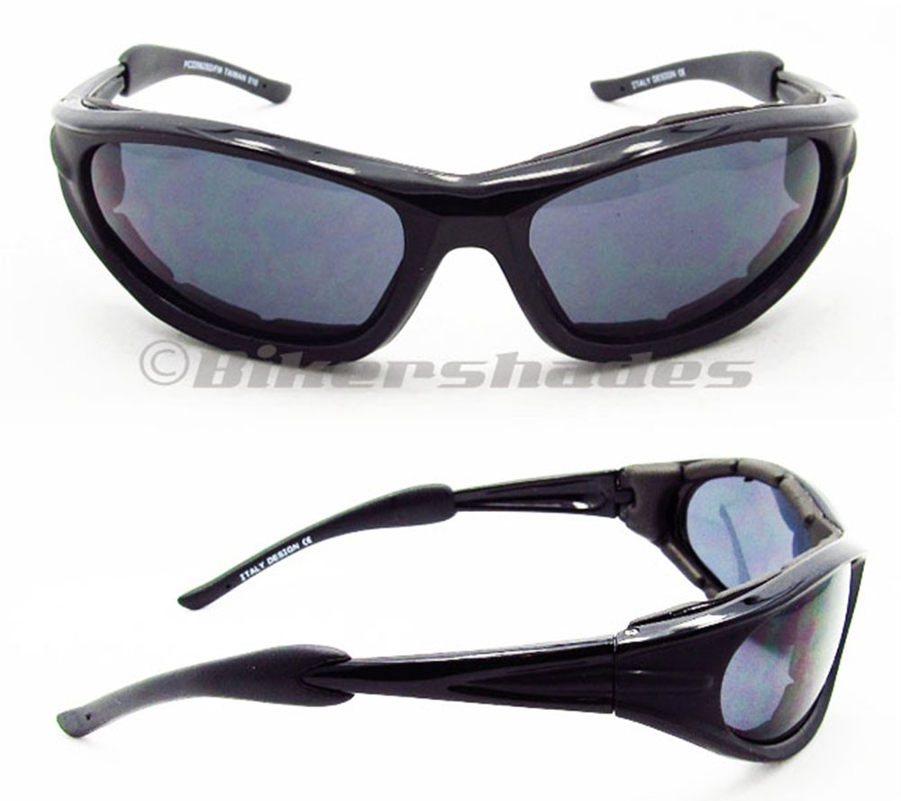 ff7a9f92d91 Motorcycle Sunglasses Riding SMOKE CLEAR YELLOW Biker Glasses Foam Padded  Women