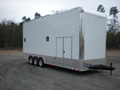 NEW 8.5x30 ENCLOSED CARGO STACKER TRAILER RACING CAR HAULER 13