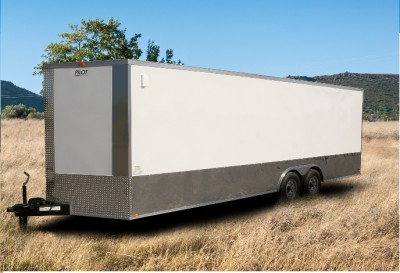 5x20 Enclosed Trailer Cargo Auto Car Transport Racing 8 x 20 ft